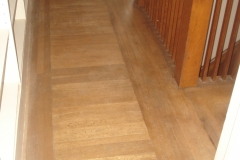 installation of hardwood flooring